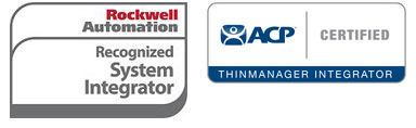 Rockwell Automation and ACP logo representing the partners of machinery control system provider Petrotech in New Orleans, LA