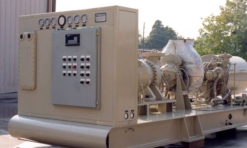 An image of a compressor control system that uses anti-surge controllers